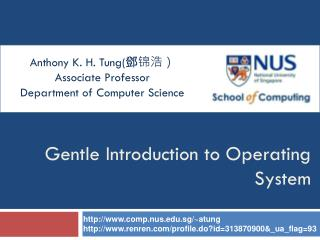 Gentle Introduction to Operating System
