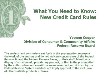What You Need to Know: New Credit Card Rules