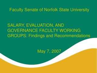 Faculty Senate of Norfolk State University