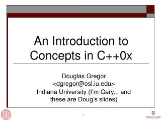 An Introduction to Concepts in C++0x
