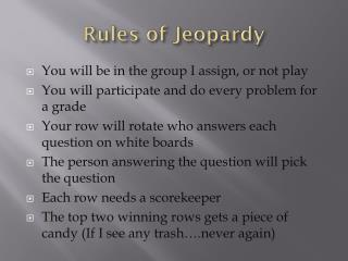 Rules of Jeopardy