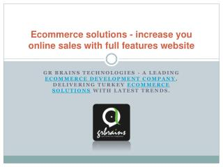 increase you online sales with full features website