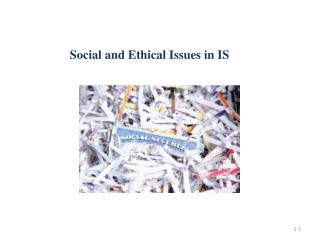 Social and Ethical Issues in IS