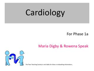 For Phase 1a Maria  Digby  & Rowena Speak