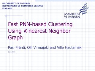 Fast PNN-based Clustering Using  K -nearest Neighbor Graph