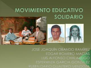 MOVIMIENTO EDUCATIVO SOLIDARIO