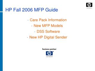 HP Fall 2006 MFP Guide