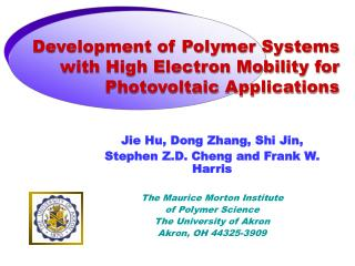 Development of Polymer Systems with High Electron Mobility for Photovoltaic Applications