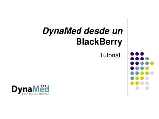 DynaMed desde un   BlackBerry