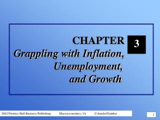 CHAPTER  Grappling with Inflation,  		    Unemployment,  			    and Growth