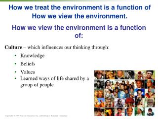 How we treat the environment is a function of How we view the environment.