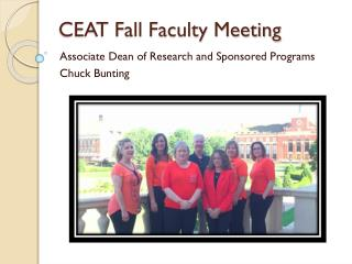 CEAT Fall Faculty Meeting
