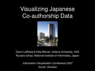 Visualizing Japanese  Co-authorship Data