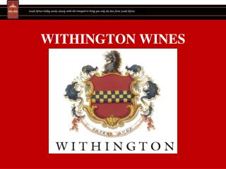 WITHINGTON WINES