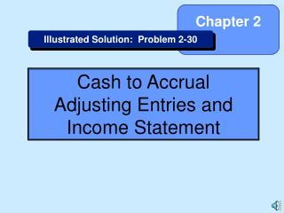 Cash to Accrual Adjusting Entries and Income Statement