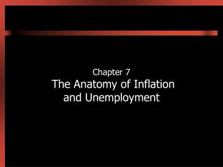 Chapter 7  The Anatomy of Inflation and Unemployment