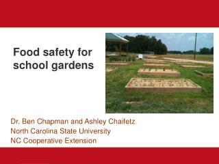 Food safety for school gardens