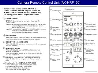 Camera Remote Control Unit (AK-HRP150)
