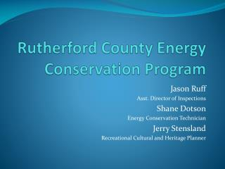 Rutherford County Energy Conservation Program