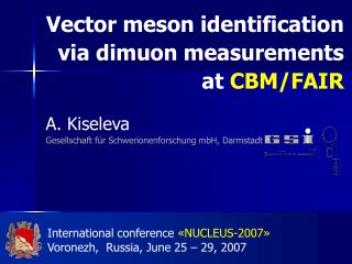 Vector meson identification  via dimuon measurements  at CBM/FAIR
