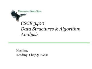 CSCE 3400 Data Structures & Algorithm Analysis