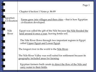 Chapter 4 Section 1 Notes p. 86-89