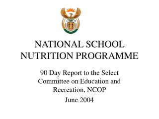 NATIONAL SCHOOL NUTRITION PROGRAMME