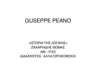 GUSEPPE PEANO