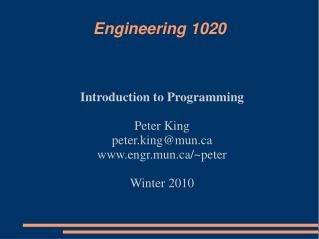 Engineering 1020