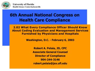 6th Annual National Congress on Health Care Compliance
