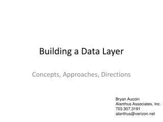 Building a Data Layer