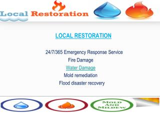 Local Restoration | flood damage
