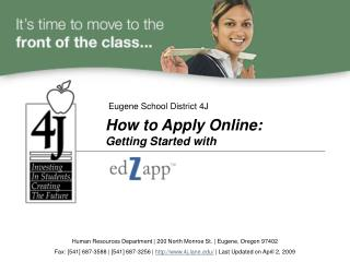 How to Apply Online:  Getting Started with