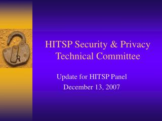 HITSP Security & Privacy Technical Committee