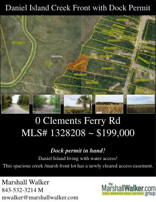 0 Clements Ferry  Rd MLS #  1328208 ~ $199,000