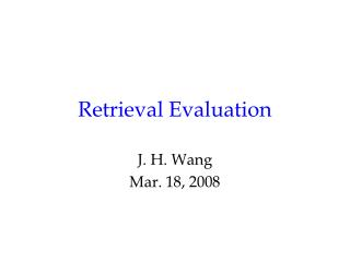 Retrieval Evaluation