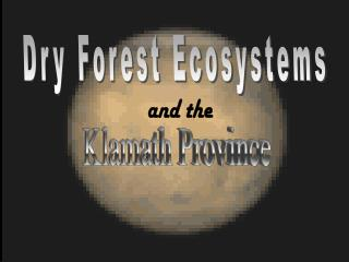 Dry Forest Ecosystems