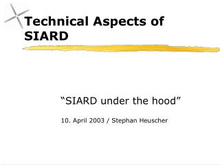 Technical Aspects of SIARD