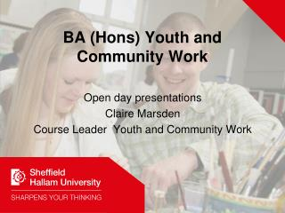 BA (Hons) Youth and Community Work