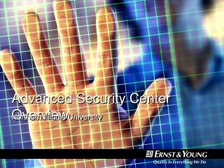 Advanced Security Center Overview