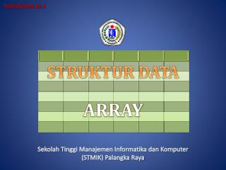 STRUKTUR DATA ARRAY