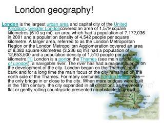 London geography!