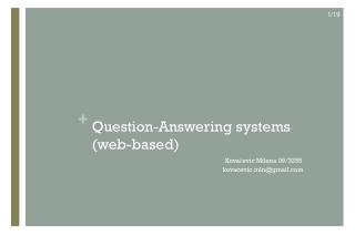 Question-Answering systems (web-based)