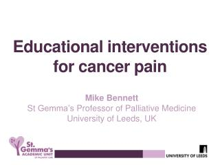 Educational interventions  for cancer pain