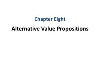 Alternative Value Propositions