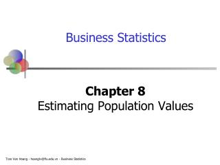 Chapter 8 Estimating Population Values