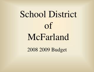 School District of McFarland