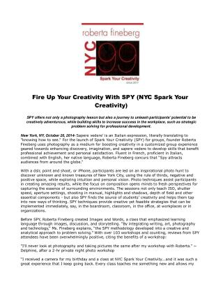 Fire Up Your Creativity With SPY (NYC Spark Your Creativity)