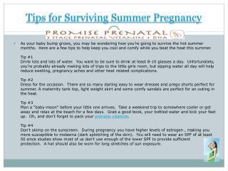 Tips for Surviving Summer Pregnancy