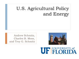 U.S. Agricultural Policy and Energy